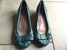 Poetic Licence Ladies Teal Low Heel Shoes Size 3. Good Condition.