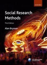 Social Research Methods, Bryman, Alan, Good Book