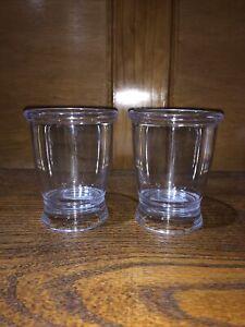 "InterDesign Franklin Clear Plastic Bathroom Tumbler Cup 3.5"" x 4.25""  2-Pack HL5"