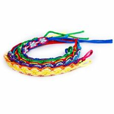 6x Colorful Braided Friendship Bracelets Thread Wrist Ankle Bracelet SS