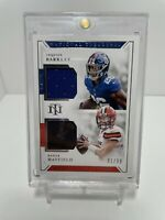 2018 National Treausres Baker Mayfield, Saquon Barkley Rookie Jersey Card /99