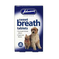 Johnson's Vet Sweet Breath Tablets for Cats & Dogs, 30 Tablets