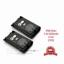 2x Fnb V96Li 95Li 2200mAh Li-Ion Battery Yaesu Vertex Vx350 351V 354U 352U 354V