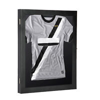 "35"" Jersey Display Case Lockable Shadow Box Frame Football Baseball Basketball"