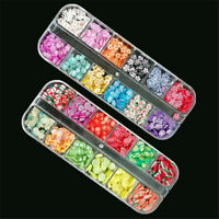 3D Nails Art Accessories Mixed Flower Fruit Slices Slicing Nail Decor US lo