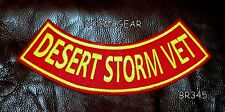 DESERT STORM VET Back Patch Bottom Rocker for Biker Veteran Vest Jacket 10""