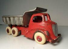 1930's Hubley Cast Iron Dump Truck Original Paint White Rubber Tires
