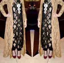 Bollywood Designer Indian pakistani brocade long Kameez cape salwar pant size XL