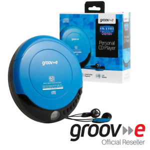 GROOV-E RETRO SERIES PERSONAL PORTABLE CD PLAYER WALKMAN - BLUE - GVPS110/BE