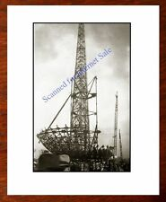 RARE - Early CONSTRUCTION 1939 New York Worlds Fair Trylon & Perisphere PHOTO