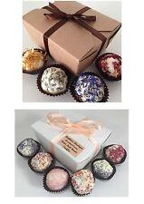 Cocoa Butter Bath Bomb Truffles Gift Set - Gifts for Birthdays,christmas,teacher