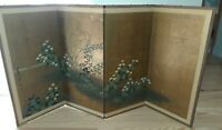 "Vintage Japanese Hand Painted Byobu Screen Four Panel screen 70""x36"""