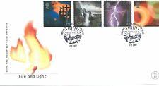 GB-Primer Día Cubierta Fdc-Commems -2000 - feb-Fuego/Luz U/un PMK Edimburgo