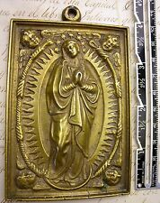 Antique 17th Century Feast of Our Lady of Guadalupe Trade Bronze Icon Medal