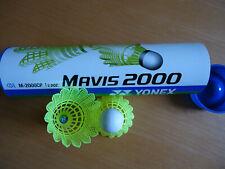 6 New Yonex Nylon Badminton Shuttlecocks Mavis 2000 yellow made in Japan