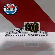 Suzuki Rv Decals Rv90 Emblem Sticker Left And Right Reproduction Full Set
