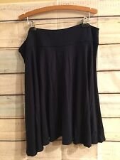 New CHAPS Navy Blue Skirt Plus Size 3X Stretch Viscose Jersey Knit Casual Career