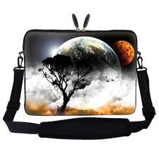 """17.3"""" Laptop Computer Sleeve Case Bag w Hidden Handle & Shoulder Strap 409"""