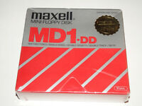 """Pack of 10 Blank 5.25"""" Floppy Disks, Maxell MD1-DD Brand New + Sealed"""