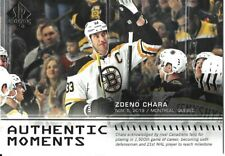 19-20 2019-20 SP Authentic Zdeno Chara Moments INSERT #114-Bruins