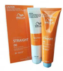 WELLA STRAIGHT(N) Permanent Straight System Hair Straightening Cream 100+100ml