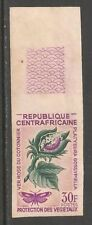 Central African Rep #55 (A16) VF MNH IMPERF - 1965 30fr Platyedra Moth & Cotton