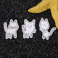 Cute Cat Cutting Dies Stencils Scrapbook Album Paper Card Embossing DIY Craft
