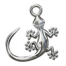 925 Sterling Silver GECKO CHARM/ PENDANT 13mm (necklace, bracelet, earrings)
