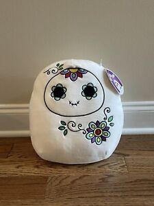"2021 12"" Glixa Skull Head Ghost Squishmallow Plush Halloween Day of the Dead New"
