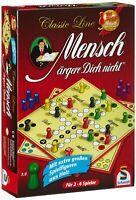 Schmidt 49085 - Mensch ärgere Dich nicht, Classic Line mit extra großen Holzfi