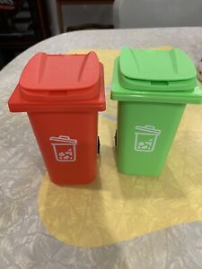 2 Trash Garbage Can Fits American Girl Doll House Accessories
