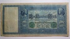 🇧🇪 1910 Germany REICHSBANKNOTE 100 Mark Green Seal