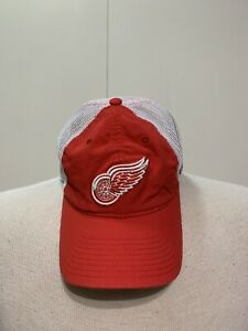 Reebok Men's Detroit Red Wings L/XL Flexfit Red And White Hat Cap
