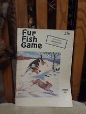 Fur Fish Game November 1958  Fur Trail Talk