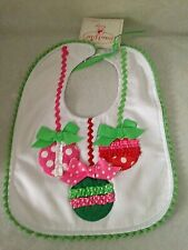 NEW BOUTIQUE MUDPIE BABY BIB CHRISTMAS ORNAMENTS