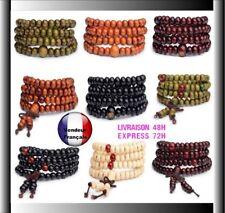 Mala Bracelet Collier bois de santal bouddha 108 perles bois de Santal Chapelet