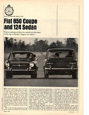 1967 FIAT 850 COUPE & 124 SEDAN  ~  ORIGINAL 6-PAGE ROAD TEST / ARTICLE / AD