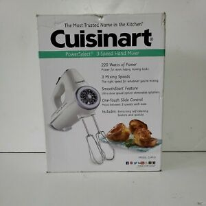 Cuisinart CHM-3 Electronic Hand Mixer 3-Speed, White