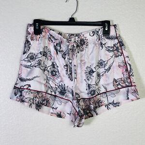 VICTORIA'S SECRET Satin Floral Short Pink Multicolor Size MEDIUM
