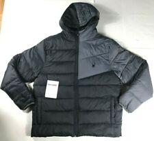 Spyder Men's Polar Jacket ThermaWeb XT BLACK Gray Puffer Coat With Hood SIZE XL