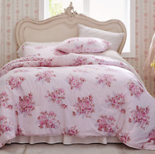 NEW Simply Shabby Chic Pink Blush Bouquet TWIN Comforter & Sham Set ~Cottage~