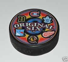 Sherwood NHL All Original Six Team Logos Collectors Souvenir Hockey Pucks