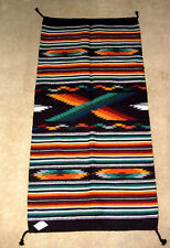 "Thick Hand Woven Wool Throw Rug / Tapestry Southwestern 32x64"" 10"