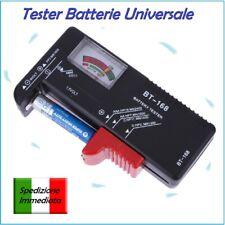 TESTER CONTROLLO CARICA BATTERIE PILE 1.5 - 9 volt STILO AA MINISTILO AAA botton