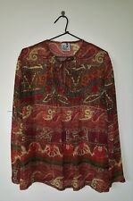 STEPHANCRAFT CREATIONS Maternity Top Pin-tucking Paisley Gold Thread Size 16