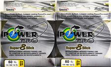 (Lot Of 2) Power Pro Super8Slick 150Yds Braided 50Lb Line Hi-Vis Yellow L3306