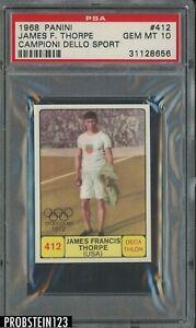 1968 Panini Campioni Dello Sport Olympics #412 James Jim Thorpe PSA 10 GEM MINT