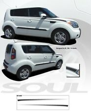 """Soul-R"" for Kia Soul 2008 to 2013 Graphic Kit - Gloss Black"