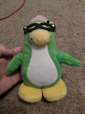 Disney Club Penguin GREEN TEACHER/LIBRARIAN Plush STUFFED ANIMAL Toy RARE 7 INCH