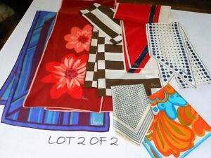 Vintage Scarves Lot of 7 All VERA Neumann Oblong & Square Mix Lot 2 of 2